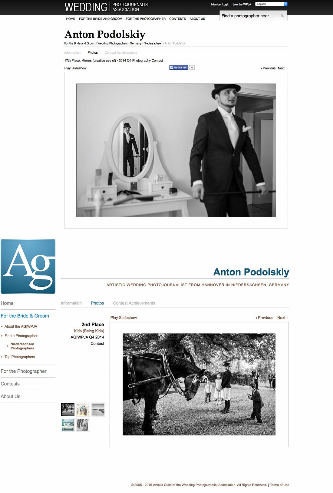 Hochzeitsfotograf München Award WPJA